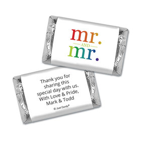 Personalized Mini Wrappers Only - Gay Wedding Mr. & Mr. Rainbow