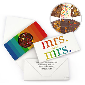 Personalized LGBT Lesbian Wedding Mrs. and Mrs. Rainbow Wedding Gourmet Infused Belgian Chocolate Bars (3.5oz)