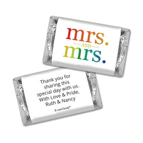 Personalized Mini Wrappers Only - Lesbian Wedding Mrs. & Mrs. Rainbow