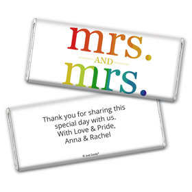 Personalized Chocolate Bar Wrappers Only - Lesbian Wedding Mrs. & Mrs. Rainbow