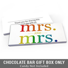 Deluxe Personalized Lesbian Wedding Mrs. & Mrs. Rainbow Candy Bar Cover