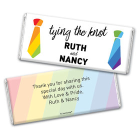 Personalized Chocolate Bar Wrappers Only - LGBT Wedding Tying the Knot