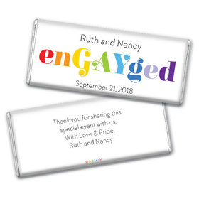 Personalized Chocolate Bar & Wrapper - LGBT Wedding We're enGAYged