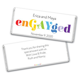Personalized Chocolate Bar Wrappers Only - LGBT Wedding We're enGAYged