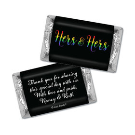 Personalized Hershey's Miniatures - Lesbian Wedding Hers & Hers Rainbow