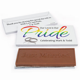 Deluxe Personalized LGBT Wedding Love & Pride Chocolate Bar in Gift Box