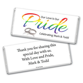 Personalized Chocolate Bar & Wrapper - LGBT Wedding Love & Pride