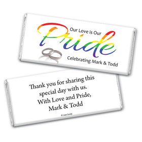 Personalized Chocolate Bar Wrappers Only - LGBT Wedding Love & Pride