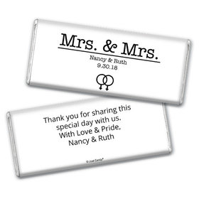 Personalized Chocolate Bar & Wrapper - Lesbian Wedding Mrs. & Mrs.
