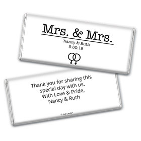 Personalized Chocolate Bar Wrappers Only - Lesbian Wedding Mrs. & Mrs.