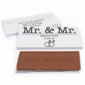 Deluxe Personalized Wedding Mr. & Mr. Chocolate Bar in Gift Box