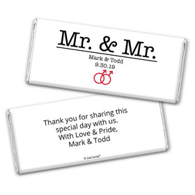 Personalized Chocolate Bar Wrappers Only - Gay Wedding Mr. & Mr.
