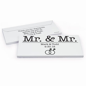 Deluxe Personalized Wedding Mr. & Mr. Hershey's Chocolate Bar in Gift Box