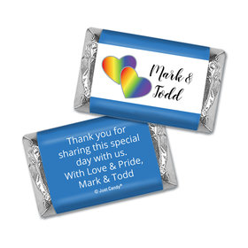 Personalized Mini Wrappers Only - LGBT Wedding Rainbow Hearts