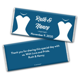 Personalized Chocolate Bar Wrappers Only - Lesbian Wedding Bride & Bride