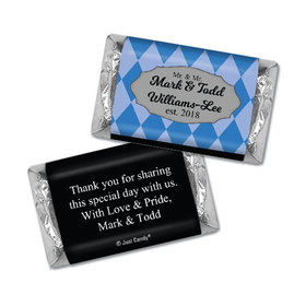 Personalized Hershey's Miniatures - Gay Wedding Mr. & Mr. Regal