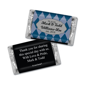 Personalized Mini Wrappers Only - Gay Wedding Mr. & Mr. Regal