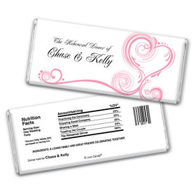 Formal Feast Rehearsal Dinner Favor Personalized Hershey's Bar Assembled