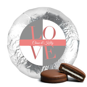 Rehearsal Dinner Love Milk Chocolate Covered Oreo Cookies Assembled