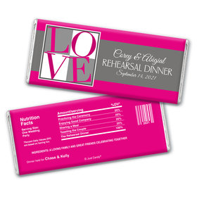 Rehearsal Dinner Love Party Favor Personalized Candy Bar - Wrapper Only