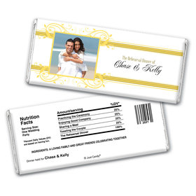 Decadent DiningRehearsal Dinner Favor Personalized Candy Bar - Wrapper Only