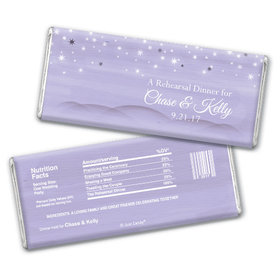 Rehearsal Dinner Personalized Chocolate Bar Starry Sky