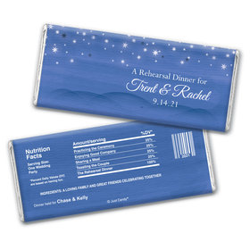 Starlit Evening Rehearsal Dinner Favor Personalized Candy Bar - Wrapper Only