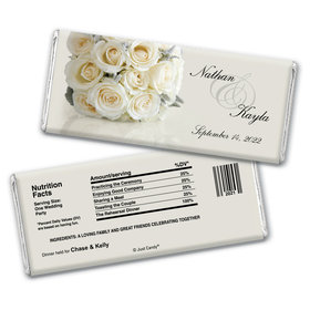 Classy Event Rehearsal Dinner Favor Personalized Candy Bar - Wrapper Only