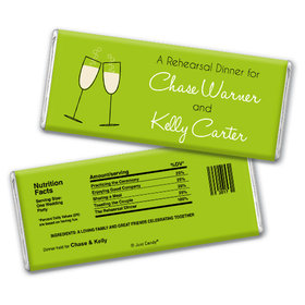Rehearsal Dinner Personalized Chocolate Bar Champagne Toast