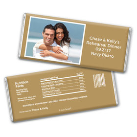 Personalized Rehearsal Dinner Favors Chocolate Bar & Wrapper
