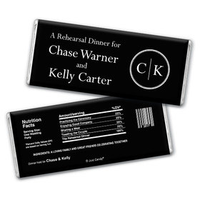 Rehearsal Dinner Personalized Chocolate Bar Monograms