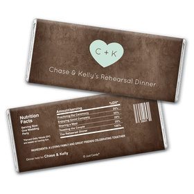 On the Menu Rehearsal Dinner Favor Personalized Candy Bar - Wrapper Only