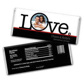 Rehearsal Dinner Personalized Chocolate Bar Big Love Photo Cameo