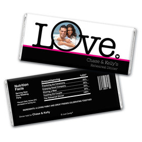 Love Dinner Rehearsal Dinner Favor Personalized Candy Bar - Wrapper Only