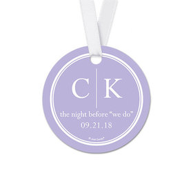 Personalized Initials Rehearsal Dinner Round Favor Gift Tags (20 Pack)