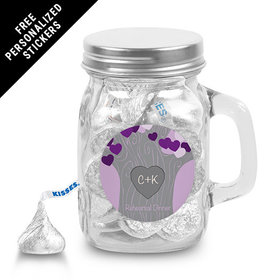 Rehearsal Dinner Personalized Mini Mason Jar Tree of Love (12 Pack)