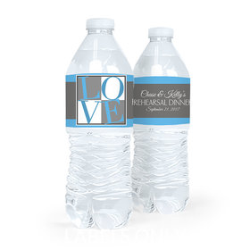 Personalized Rehearsal Dinner Pop Art Love Water Bottle Sticker Labels (5 Labels)