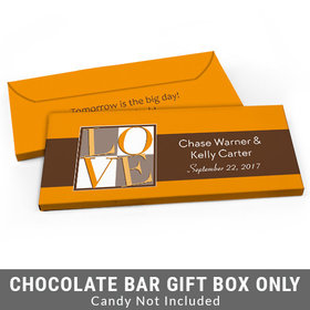 Deluxe Personalized Pop Art Love Square Rehearsal Dinner Candy Bar Favor Box
