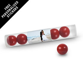 Rehearsal Dinner Personalized Gumball TubeFull Photo (12 Pack)