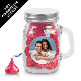 Rehearsal Dinner Personalized Mini Mason Jar Full Photo (12 Pack)