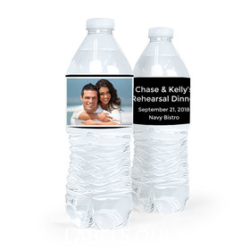 Personalized Rehearsal Dinner Snapshot Water Bottle Sticker Labels (5 Labels)
