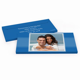 Deluxe Personalized Photo Rehearsal Dinner Chocolate Bar in Gift Box