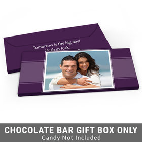 Deluxe Personalized Photo Rehearsal Dinner Candy Bar Favor Box
