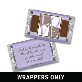 Personalized Save the Date Favors Mini Wrappers
