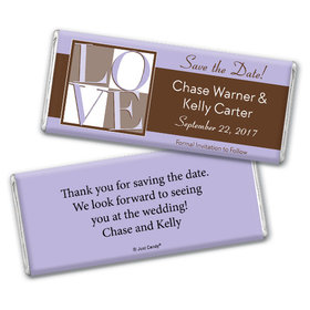 Personalized Save the Date Favors Chocolate Bar & Wrapper