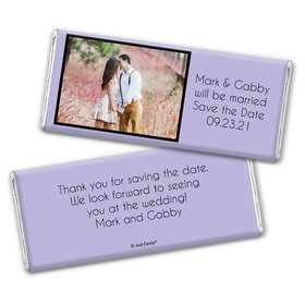 Save the Date Snapshot Announcements Personalized Candy Bar - Wrapper Only