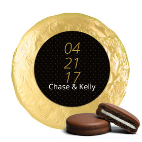 Wedding Save the Date Dots Milk Chocolate Covered Oreo Cookies