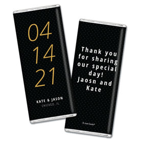 Wedding Save the Date Dots Personalized Chocolate Bar Wrappers