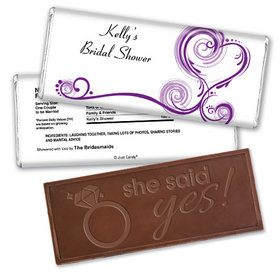 Love is Glorious Bridal Shower Favors Personalized Embossed Bar Assembled