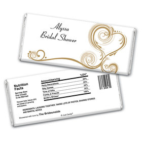 Love is Glorious Bridal Shower Favors Personalized Candy Bar - Wrapper Only
